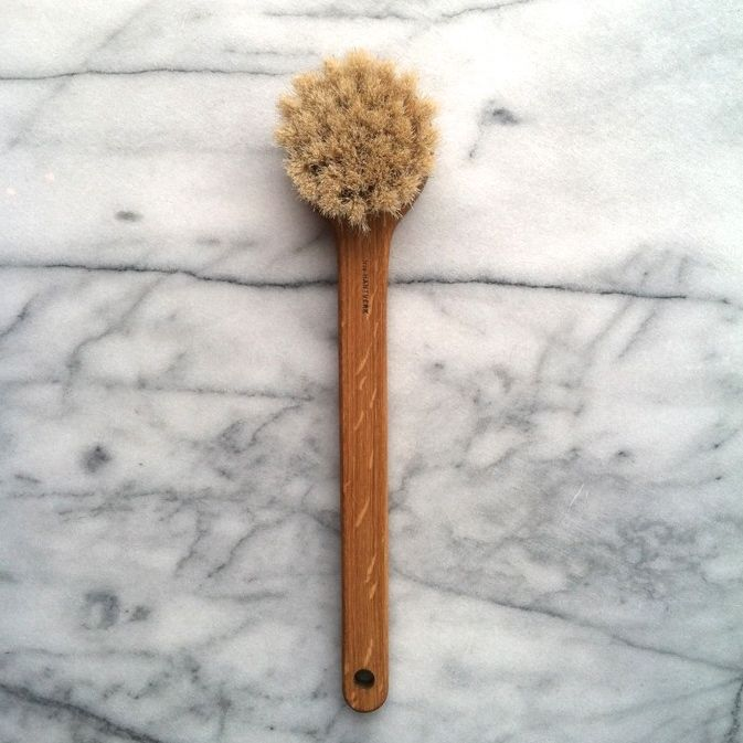 Swedish Long Handled Lovisa Bath Brush - Round Head - Horsehair