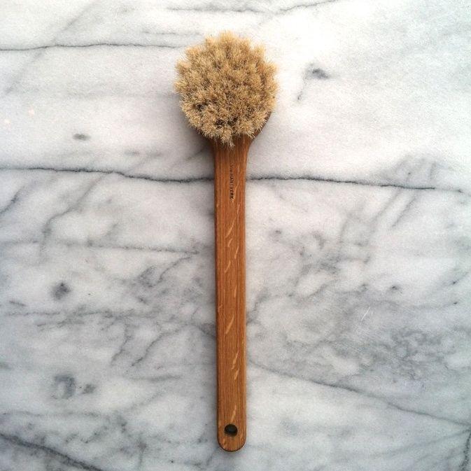 Swedish Long Handled Lovisa Bath Brush - Round Head
