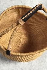 Natural Grass Bolga Shopper Basket - 15 x 18 in