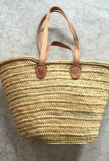 Double Leather Handle French Market Basket - 22 x 18