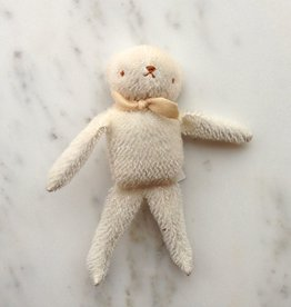 Polka Dot Club Handmade Bear Stuffed with Cotton - White Mohair
