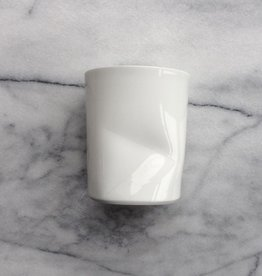 Japanese Porcelain Tall Cup with Dimple