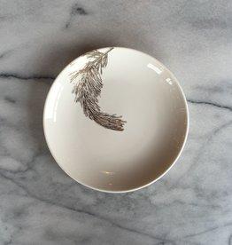 Caskata Porcelain Canape Plate Gold Pine Branch