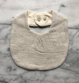 Claire Baby Bib - Silver Grey