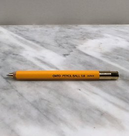 Ohto Wooden Ball Point Pen - Fat - Yellow