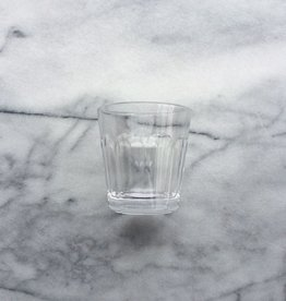 Simple Facetted Glass Tumbler - 6oz