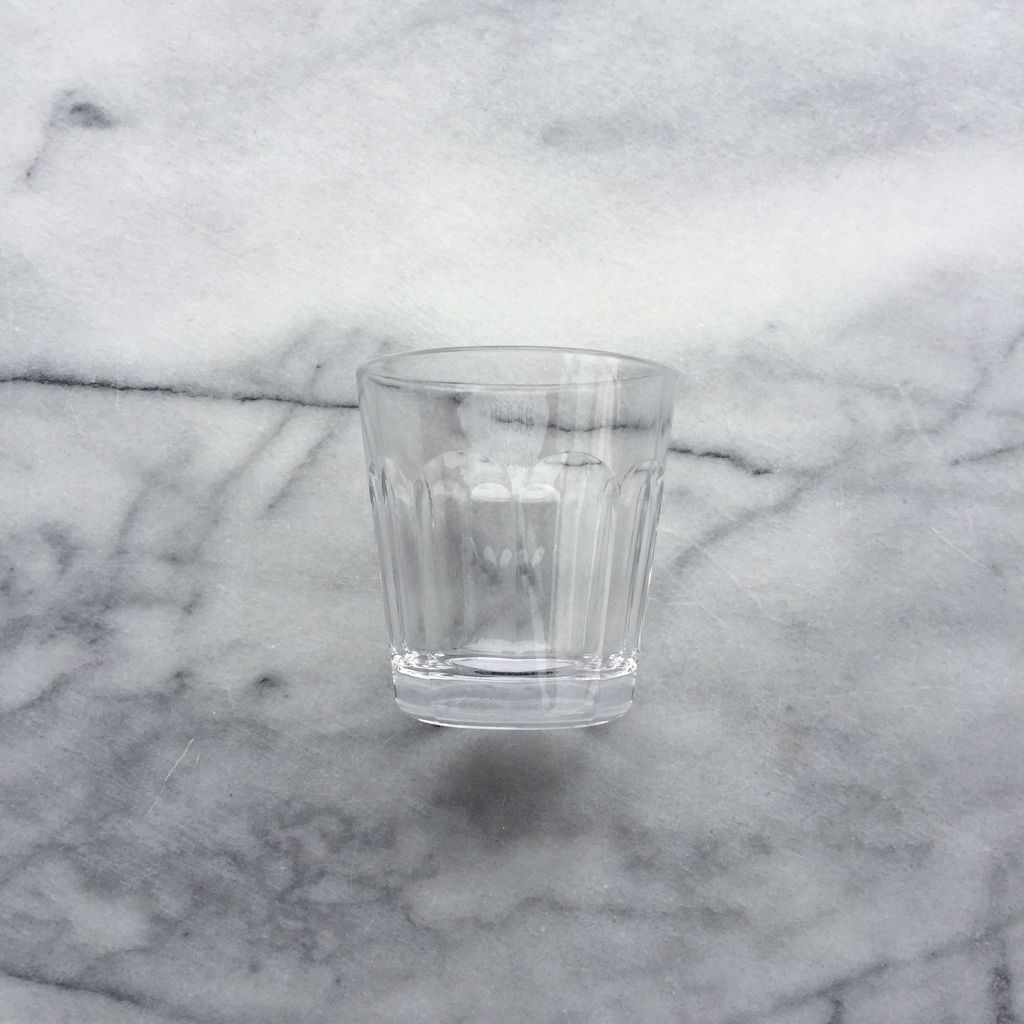 Simple Faceted Glass Tumbler - Clear - 6oz