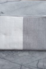 Two Tone Chambray Hand Towel - Light Grey/White