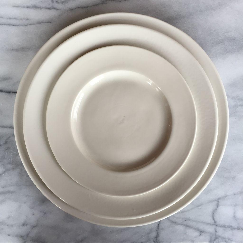 John Julian John Julian Plain Porcelain Dinner Plate - 10.6D