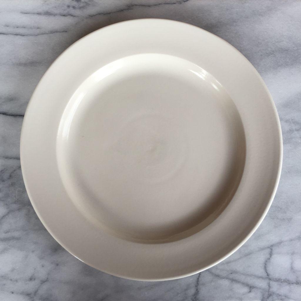 """John Julian John Julian Plain Porcelain Large Dinner Plate - 12"""""""