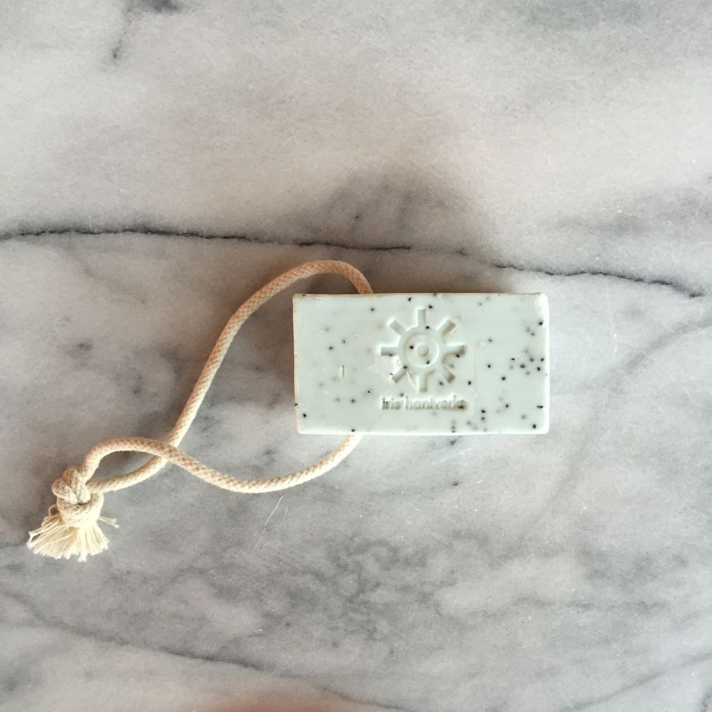 Natural Swedish Soap On A Rope - Poppy