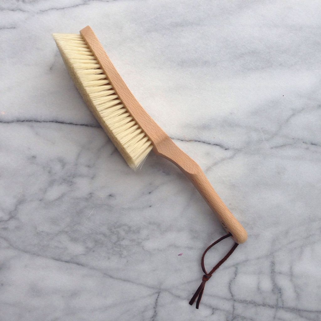 Beech Clothes Lint Brush with Handle