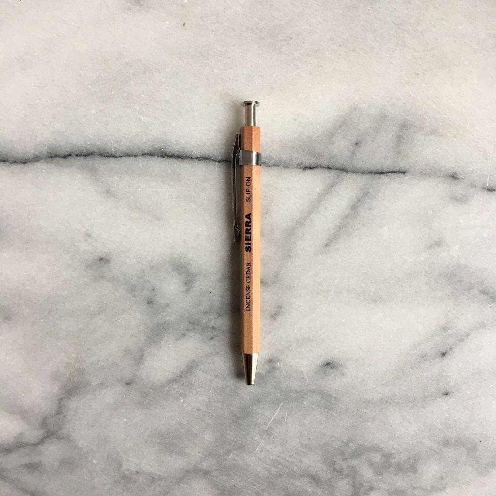 Sierra Wooden Needle Point Pen - Short - Natural
