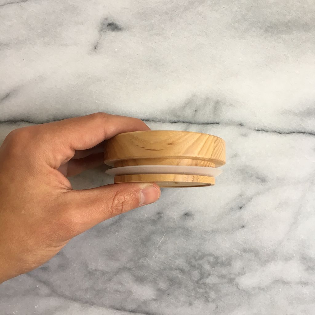 Hasami Ash Wood Round Tray - Tiny - with Tight Seal - 3.3/8 x 1.25 in.