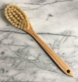 Swedish Long Handle Bath Brush Oval With Handle - Tampico and Horsehair