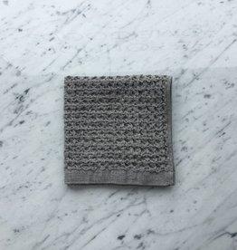 Lattice Waffle Washcloth - Grey - 14.25 x 14.25 in