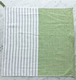 Square Towel with Hanging Loop - Green