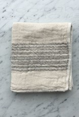 Flax Line Hand Towel - Brown and Beige