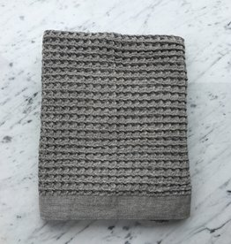 Lattice Waffle Bath Towel - Grey - 57 x 33.5