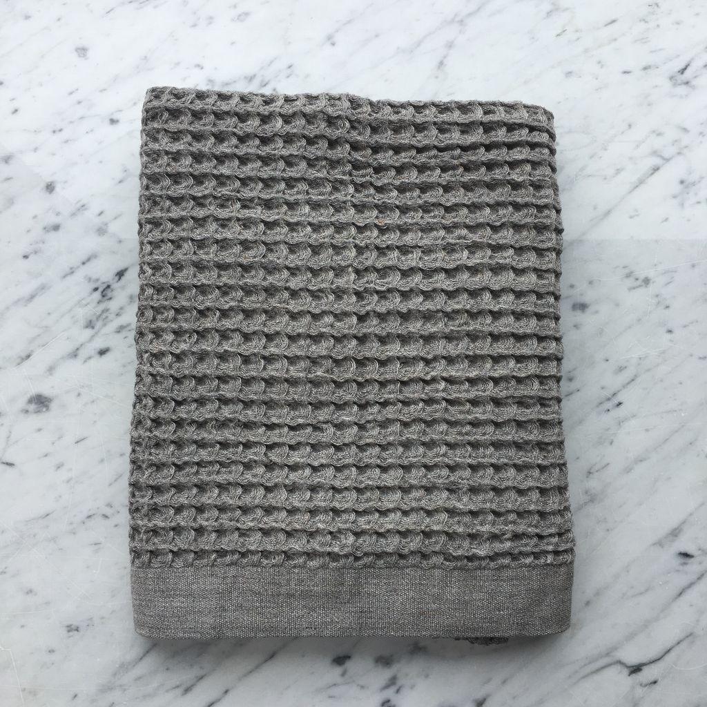 Lattice Waffle Bath Towel - Grey - 57 x 33.5