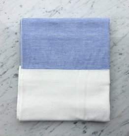 Two Tone Chambray Bath Towel - Blue/White - 25 x 51 in.