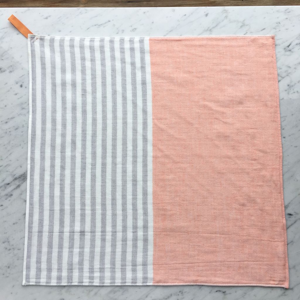 Square Towel With Hanging Loop Orange The Foundry Home Goods