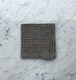 Lattice Waffle Washcloth - Brown