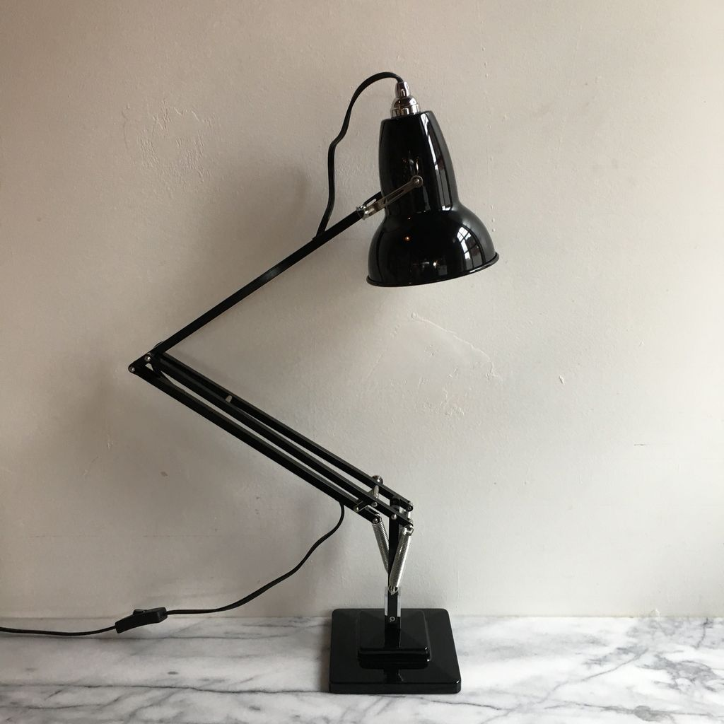 Anglepoise Original 1227 Chrome Desk Lamp - Jet Black