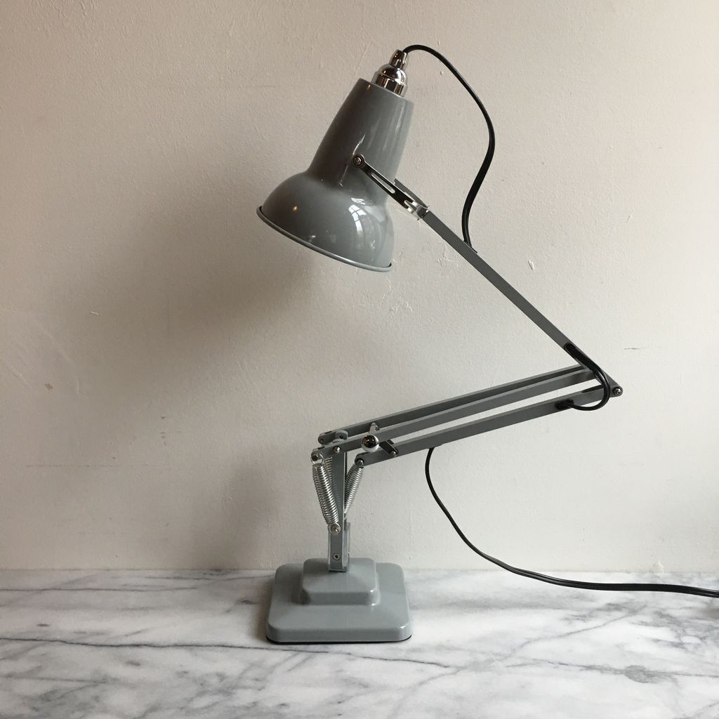 mini foundry lamp desk dove anglepoise grey the original