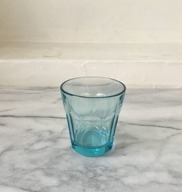 Simple Facetted Glass Tumbler - Blue - 6oz