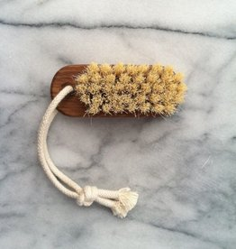 Swedish Lovisa Oiled Oak Nail Brush on Rope