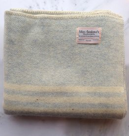 MacAusland MacAusland Wool Lap Blanket - Light Blue Tweed - 50 x 60 in