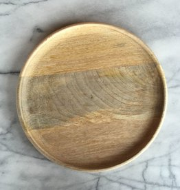 Natural Mango Wood Round Platter - Large