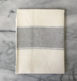 Belgian Linen Ajaccio Tea Towel - Grey