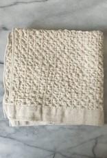 Lattice Waffle Washcloth - Cotton + Linen - Ivory