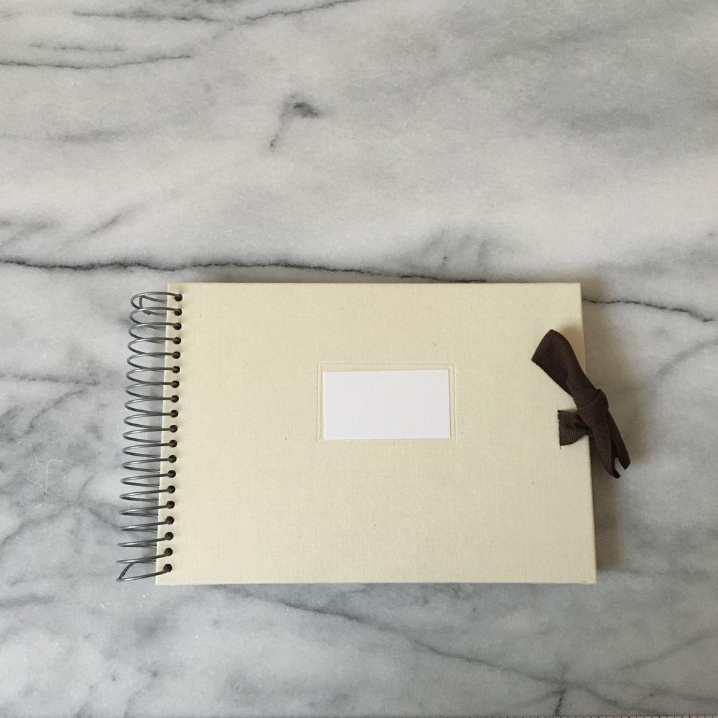 Spiral Cloth Bound Album Notebook - Blank - Ivory - 5 x 7 in