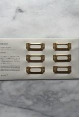 Brass Label Plate - Set of 6