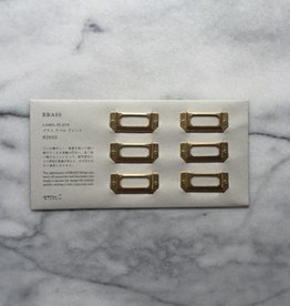 Brass Label Plate - Set of 6