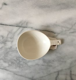 Giant Porcelain Oval Scoop with Little Handle - 6 in