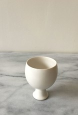 Jicon Porcelain Pedestal Vessel - Round Cup - 2.75 in