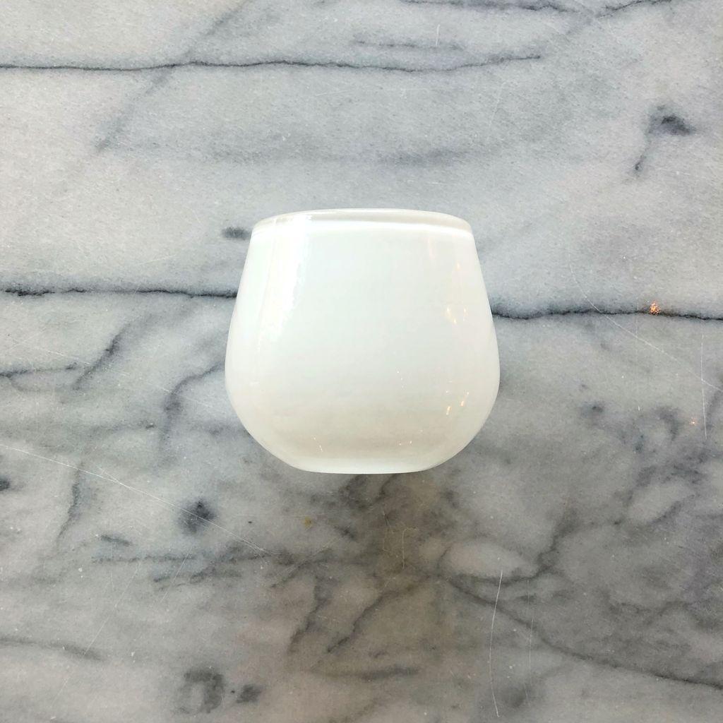 Henry Dean Tiny Clovis Vessel - White - 3.5H