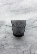 Simple Facetted Glass Tumbler - Grey - 6oz