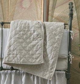 Matteo Home Ida Vintage Linen Baby Comforter - Greige - 36 x 50 in
