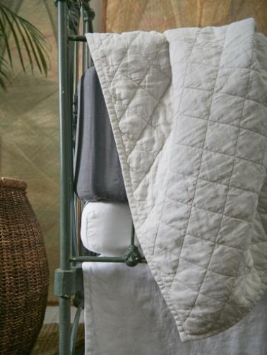 Matteo Home Ida Vintage Linen Baby Comforter - Earth - 36 x 50 in