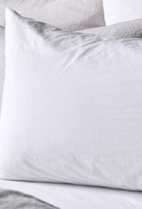 Matteo Home Lawn Combed Cotton Queen Pillowcase - White - 20 x 33 in