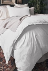 "Matteo Home Lawn Combed Cotton Queen Duvet Cover - White - 90"" x 94"""