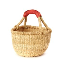 Kiddo Sized Grass Bolga Shopper Basket