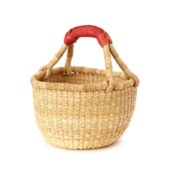 Kiddo Sized Grass Bolga Shopper Basket
