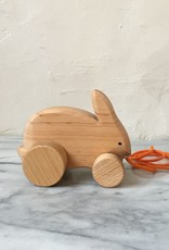 Grimm's Toys Bobbing Rabbit Pull Along Toy