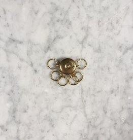 "A&F Brass Octopus Key Holder -1"" x 1.75""L"